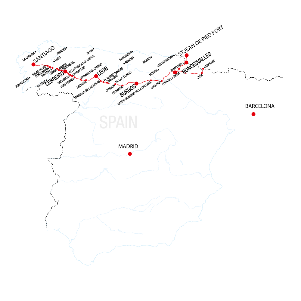 Map of the Camino