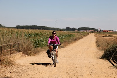 Camino cycle tourist