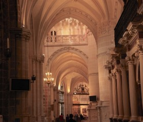 Magnificent arches of Burgos Cathedral