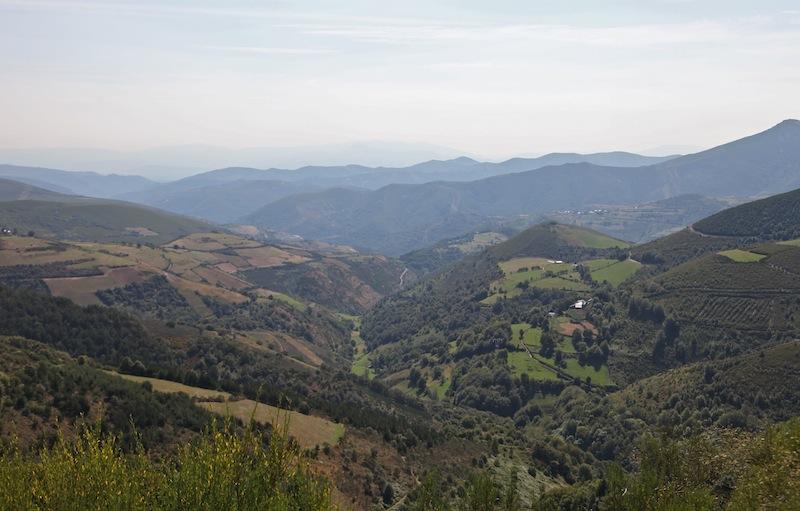View from O'Cebreiro